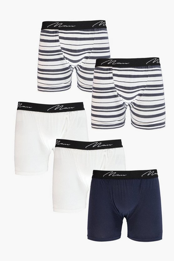 5 Pack Stripe MAN Boxers