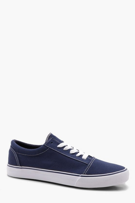 Lace Up Toe Cap Plimsole