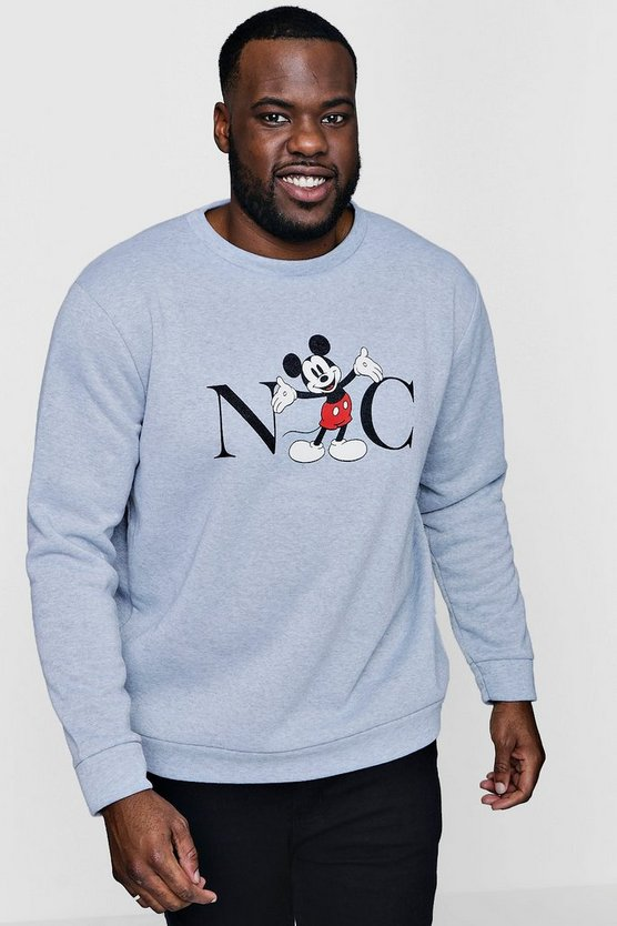 Big And Tall Disney NYC Mickey Sweater