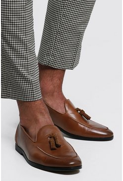 PU Tassel Loafer, Tan, Uomo