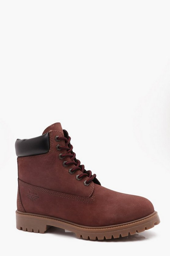 Real Leather Worker Boots