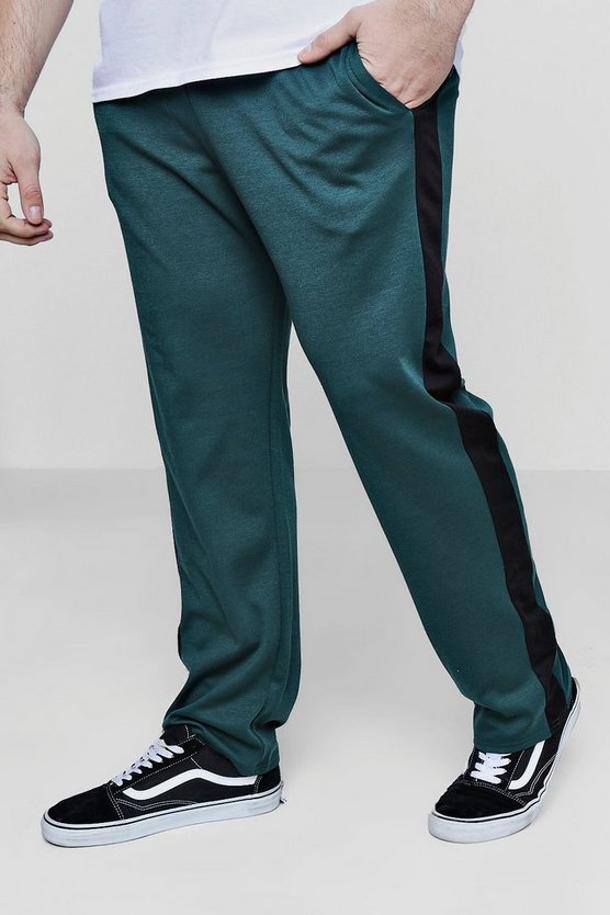 Big And Tall Panelled Joggers by Boohoo Man