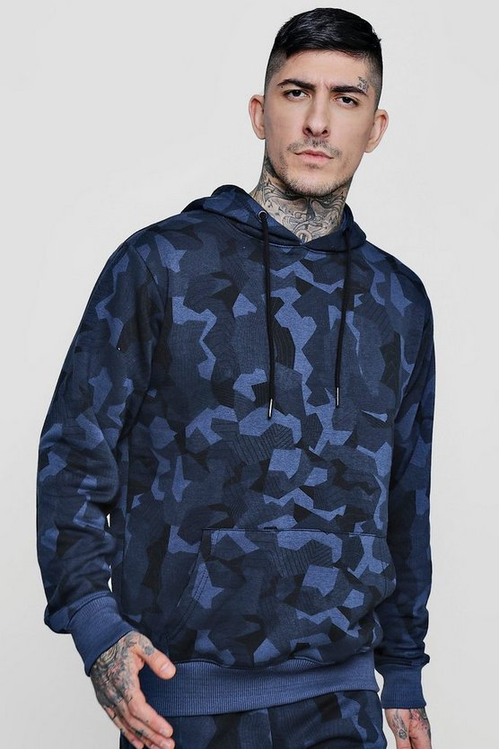 Over The Head Camo Hoodie