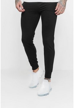 Mens Navy Basic Skinny Fit Fleece Joggers