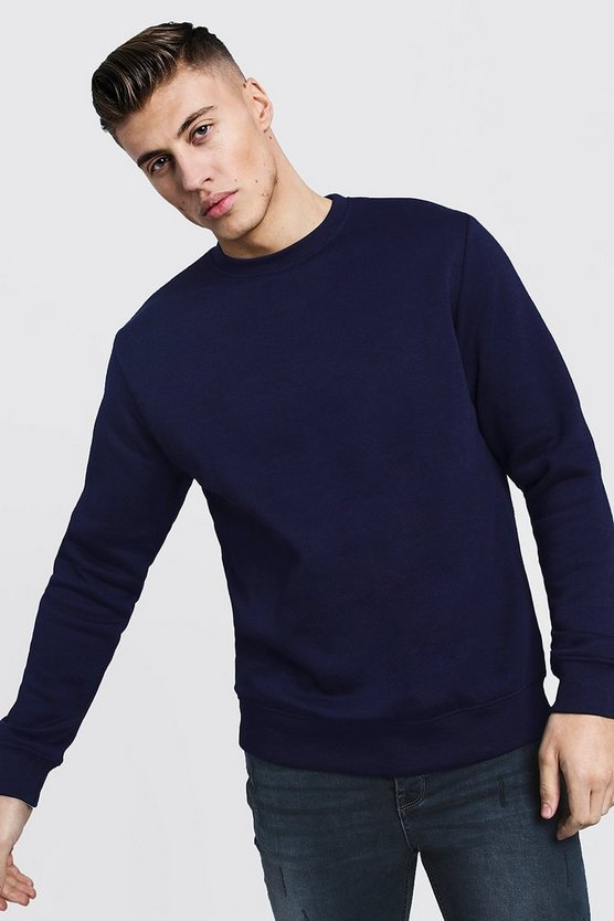 Basic Crew Neck Fleece Sweatshirt