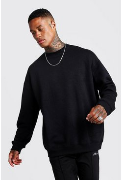 Black Fleece Oversized Sweatshirt