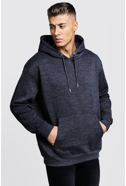 Charcoal Fleece Oversized Over The Head Hoodie