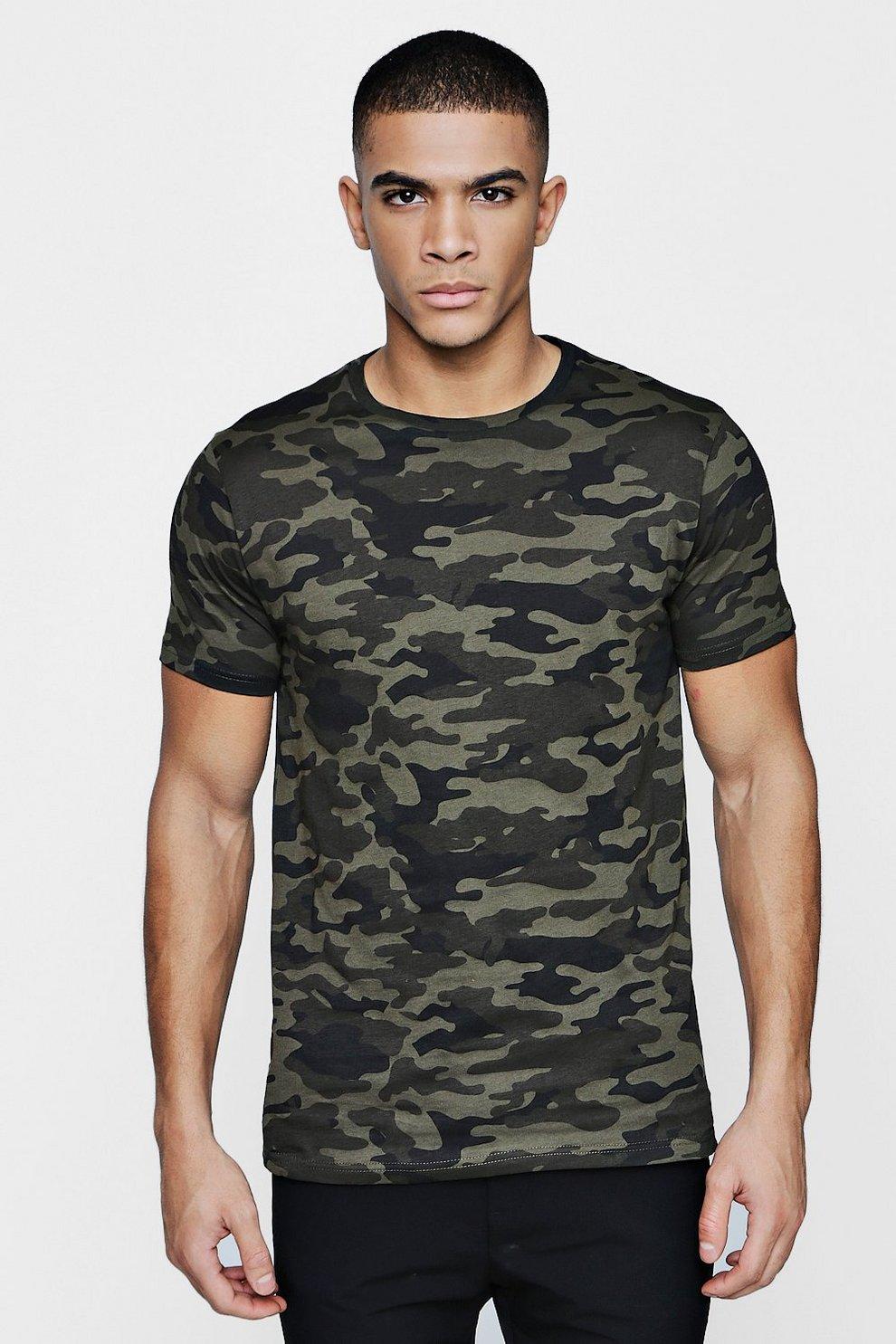 36461b310 Camo T-Shirt | Boohoo
