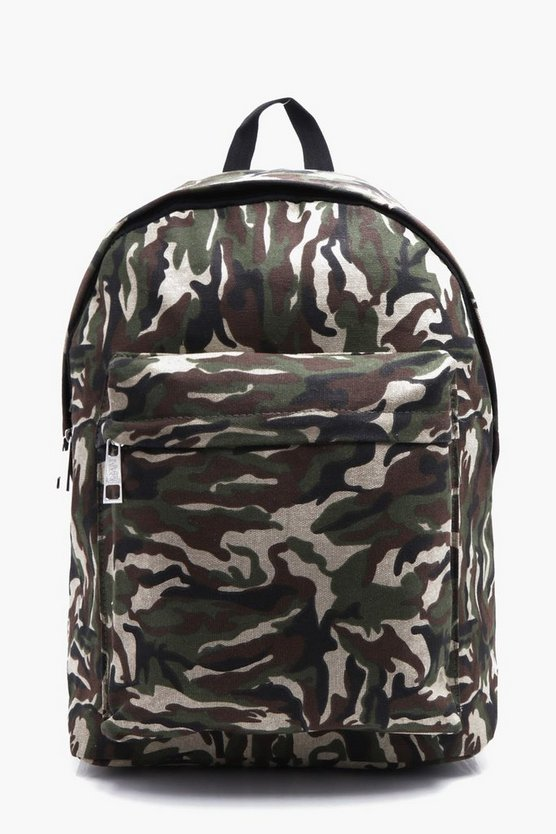 Textured Camo Backpack
