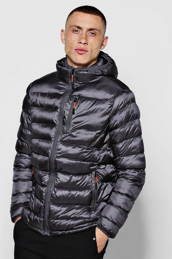 Quilted Panelled Puffer Jacket