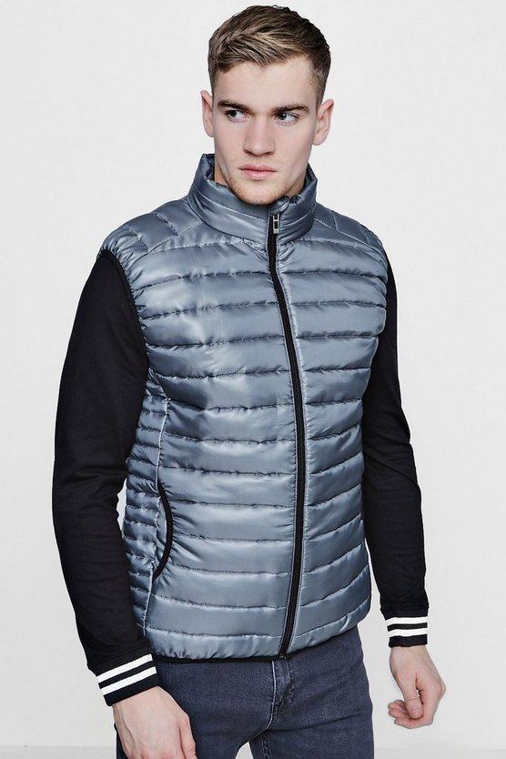 Funnel Neck Sleeveless Puffer