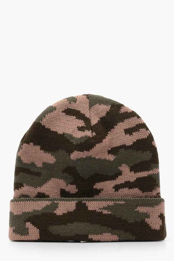 Knitted Camo Hat