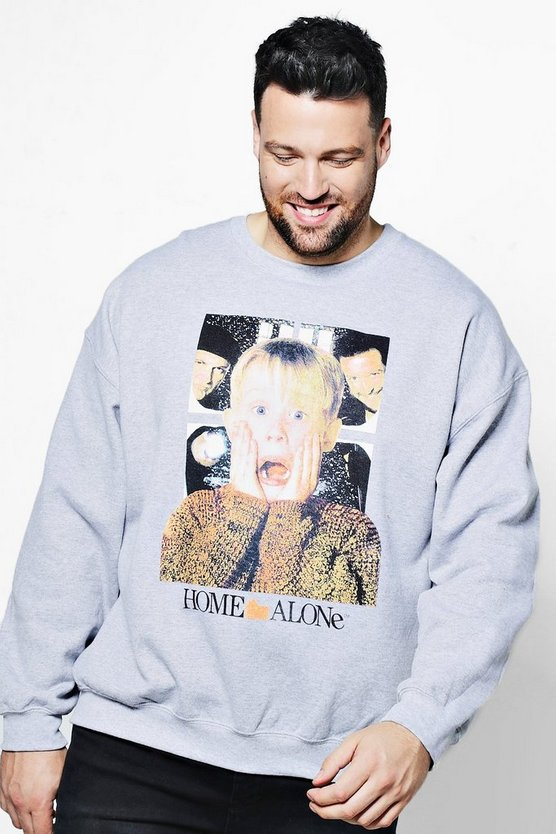 Big And Tall Home Alone Licence Sweater