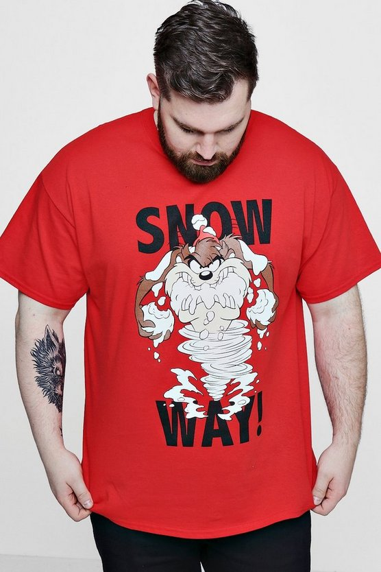Big And Tall Snow Way Looney Tunes License T-Shirt