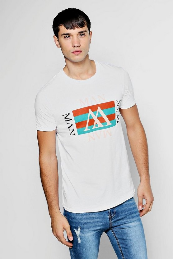 MAN Repeat Retro T Shirt