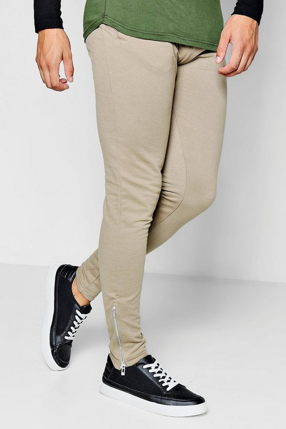 Skinny Fit Jogger With Side Zip