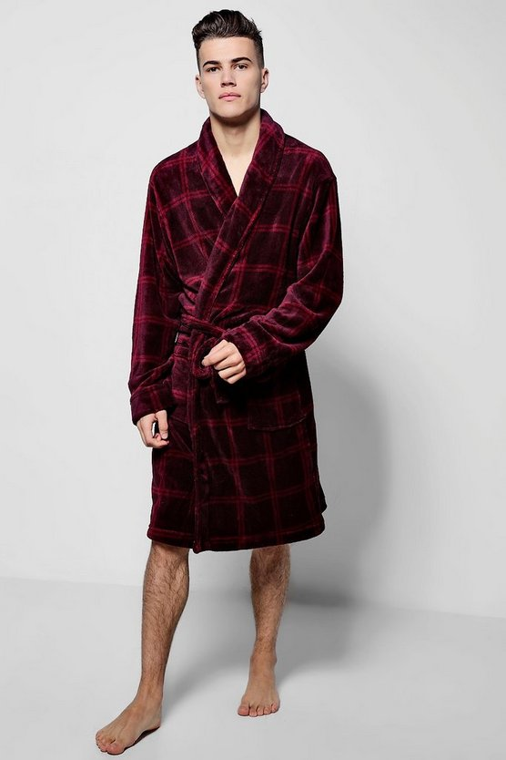 Red Check Supersoft Robe