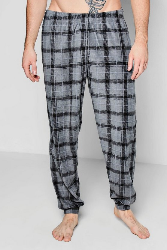 Check Fleece Lounge Pants
