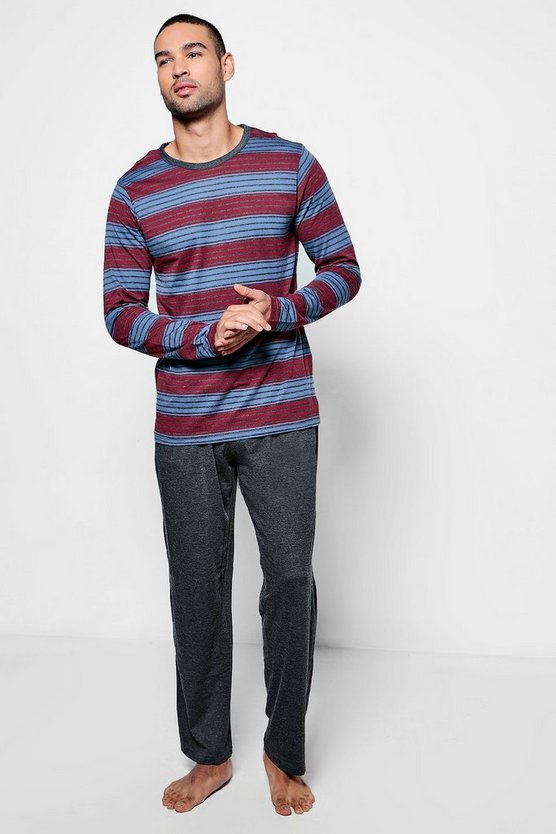 Striped Jersey Long Sleeve PJ Set