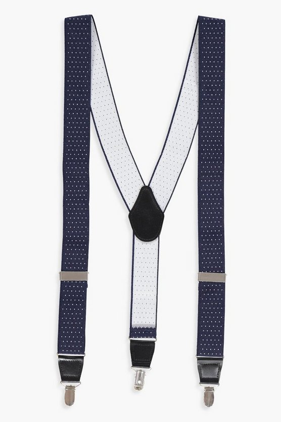 Navy Patterned Braces