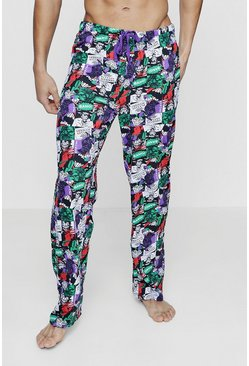 Mens Black 'The Joker' Lounge Pants