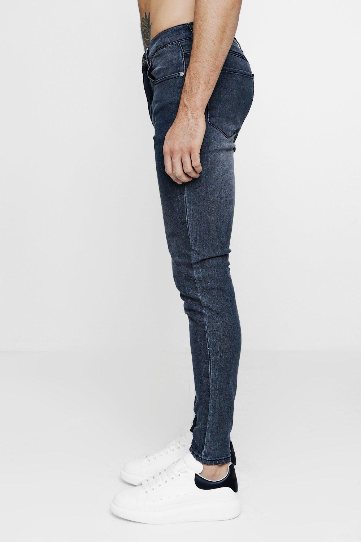 grey Grey Skinny Denim Jeans Stretch Super xBCwaX4x