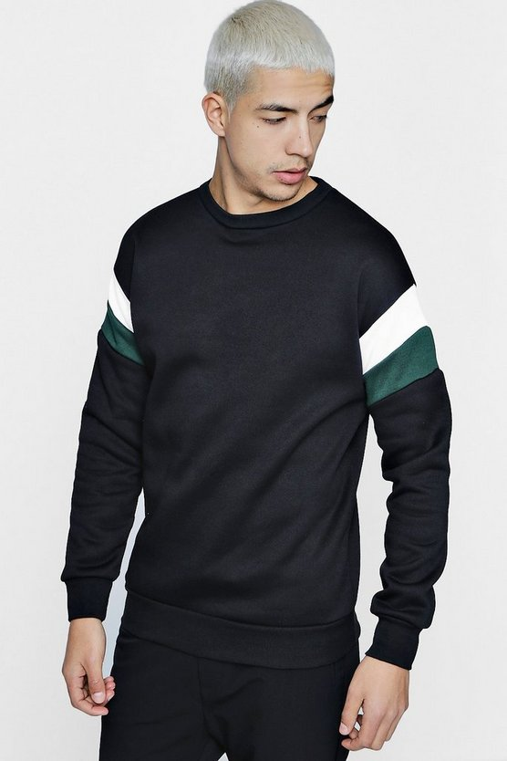 Jersey Panelled Sweater