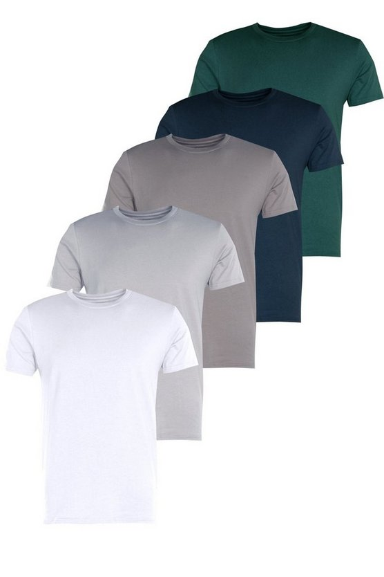 5 Pack Slim Fit T-Shirts