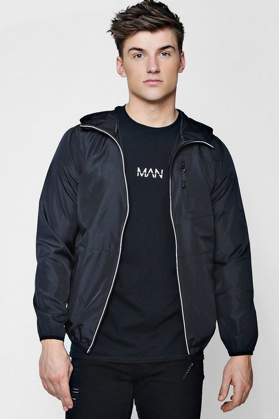 Reflective Tape Hooded Cagoule