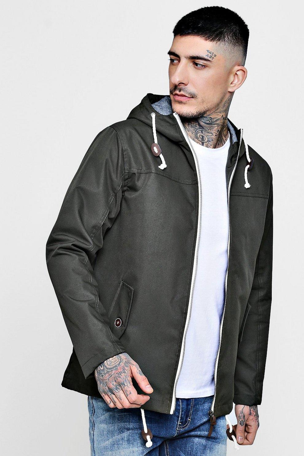 e660f0568 Contrast Lightweight Parka Jacket | Boohoo