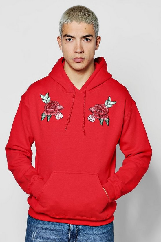 Twin Rose Embroidered Hoodie