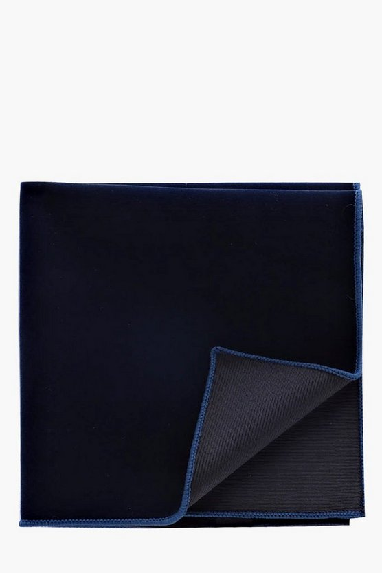 Navy Velvet Pocket Square