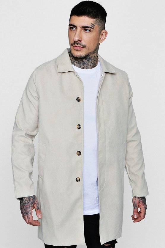 Trenchcoat in Wildlederoptik