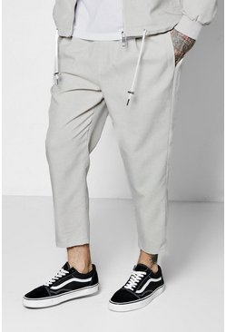 Mens Stone Woven Tailored Jogger
