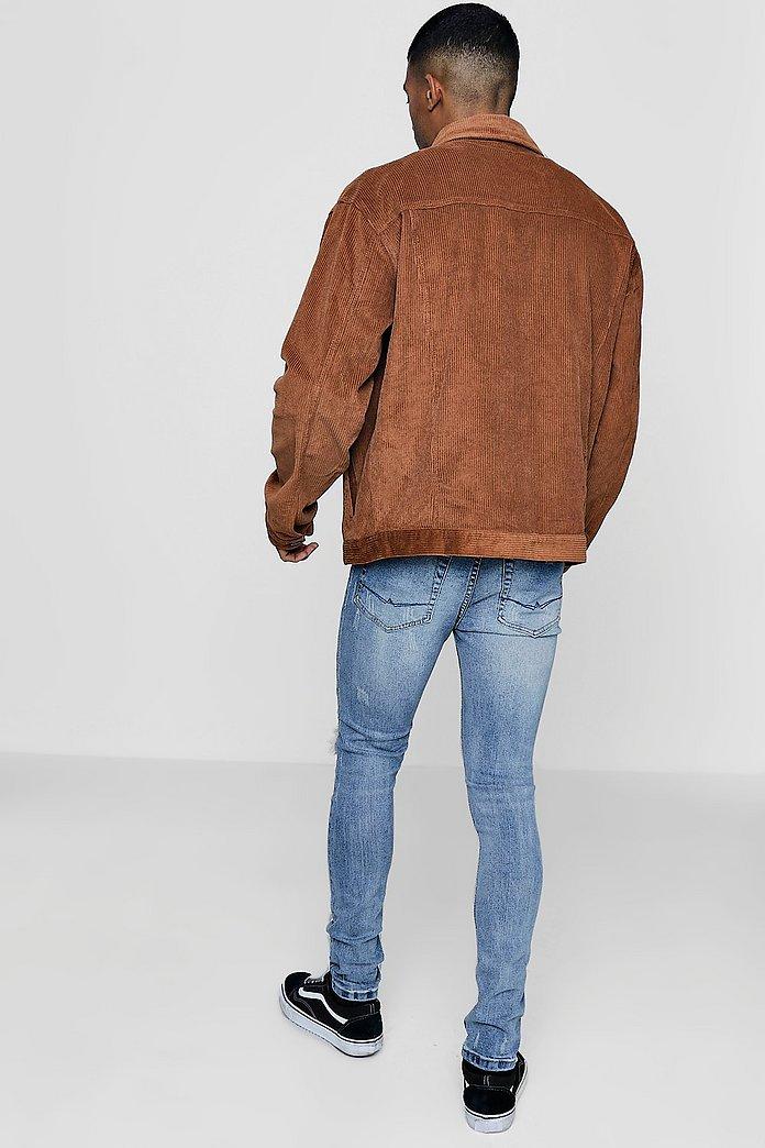 Im Western Style Jacke übergroß aus Cord | Boohoo