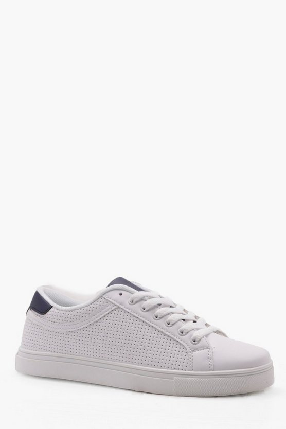 Ponched Lace Up Trainer