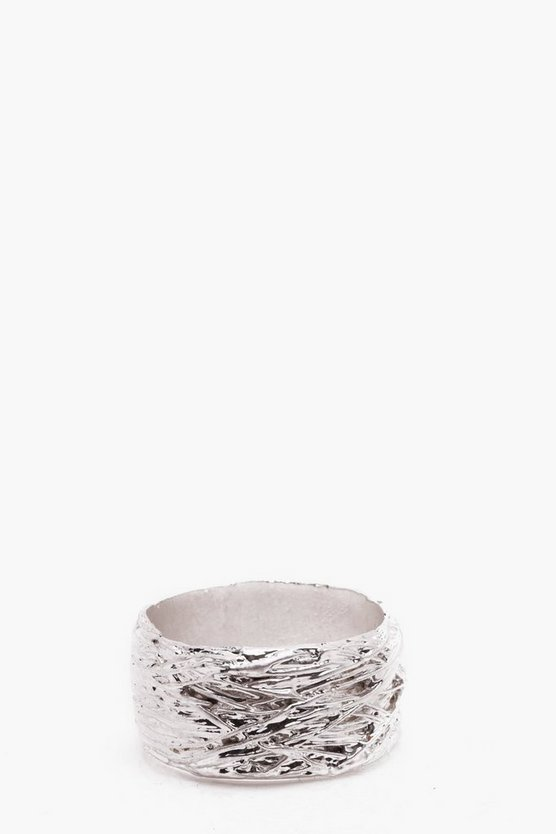 Woven Metal Effect Ring