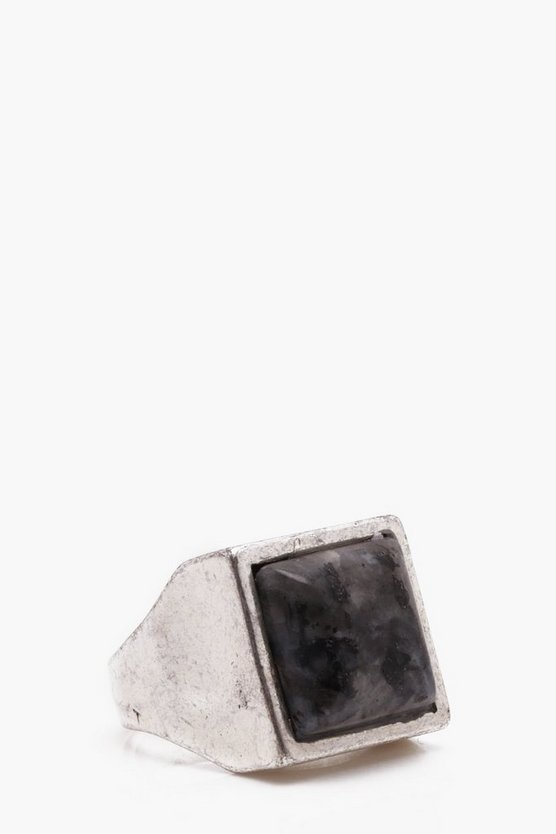 Vintage Inspired Square Ring With Stone