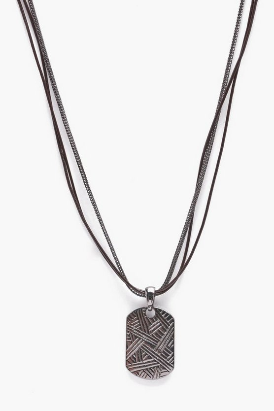 Gunmetal Dog Chain Necklace