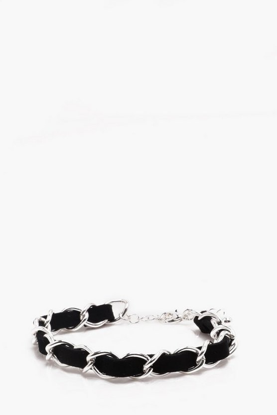 Faux Leather Plaited Bracelet