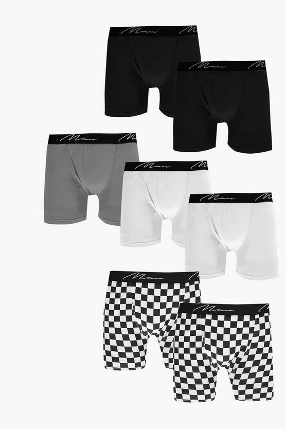 7 Pack Checkerboard MAN Trunks