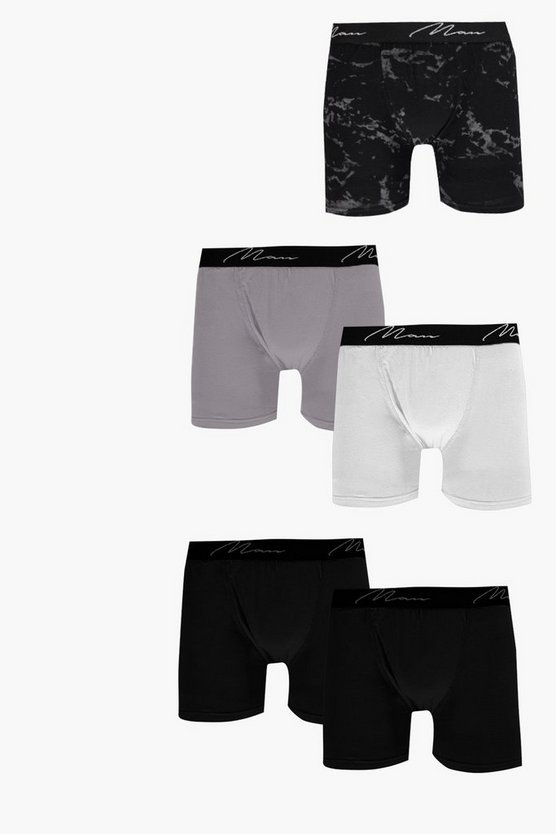 5 Pack Marble MAN Trunks