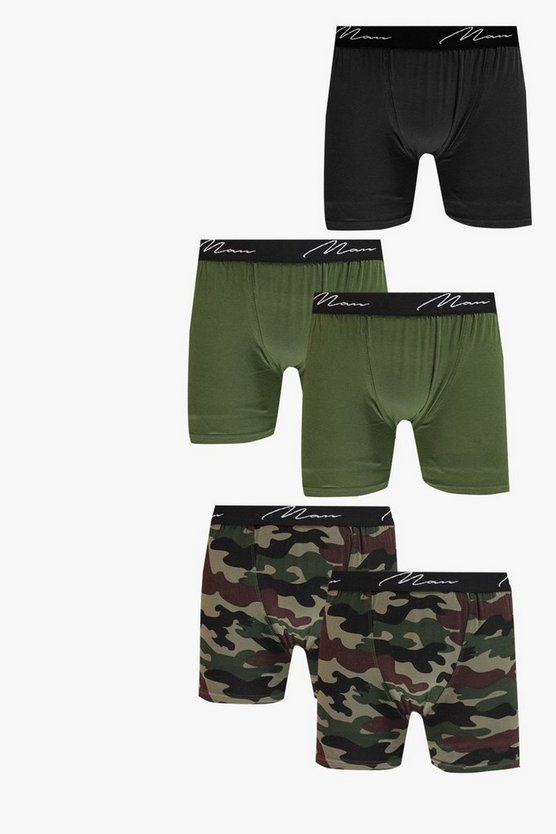 5 Pack Camo MAN Trunks