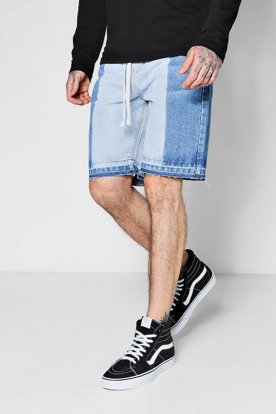 Shorts Denim con Skater holgado medio descoloridos
