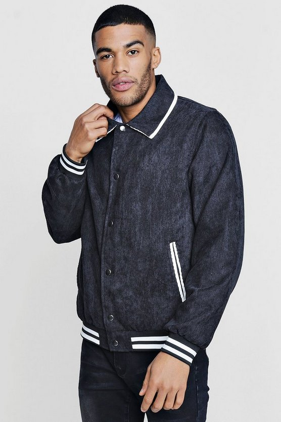 Corduroy Sports Rib Bomber Jacket