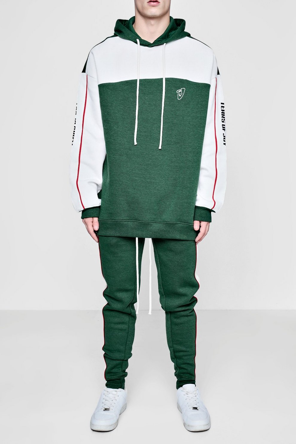 3a18bbebda Mens Green Oversized Tears Pipe Tracksuit