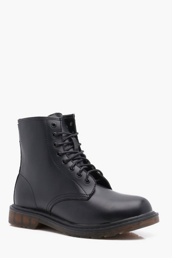 Black PU Worker Boot