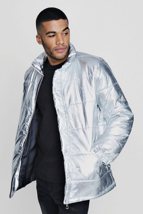 Metallic Padded Coat