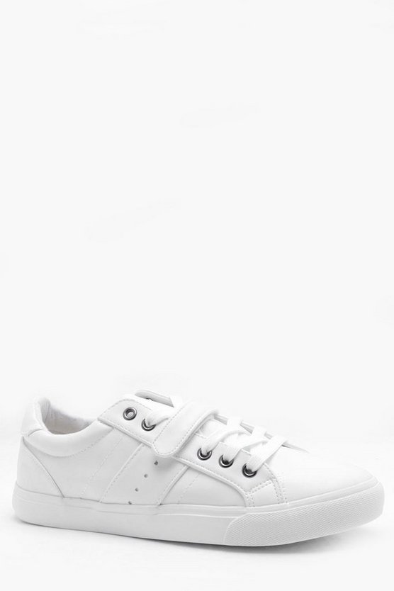 Velcro Strap Lace Up Trainers