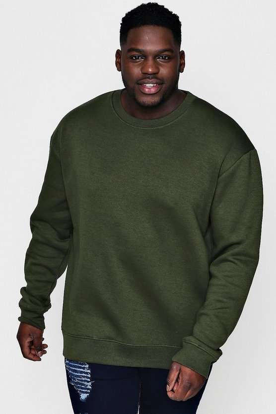 Mens Big And Tall Basic Fleece Sweater